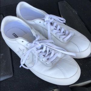 White Leather Converse All-Stars
